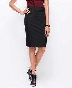 Ann Taylor petite all-season stretch pencil skirt in black