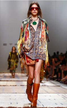 The designer: Veronica Etro continues the family tradition with luxe bohemian designs. <br><br> This season it's about: Etro's signature paisley print is taken on a nomadic world tour—discover maxi dresses, beaded caftans (for day and night) and tribal jewelry. <br><br> The piece to buy: The shrunken military jacket in striped silk.
