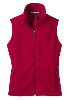 Port Authority Ladies Value Fleece Vest, True Red, 4XL * Read more reviews of the product by visiting the link on the image.