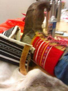 Skaller, skinnarbeid, duodji, samisk håndverk. Laget av meg
