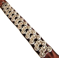 Taxco Los Ballesteros Scroll Bracelet Handmade Vintage Sterling Silver Jewelry Accessories Signed Artisan Link Bracelet Gift for Her, c1942