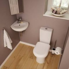 Trueshopping Honour Cloakroom Toilet and Corner Basin Suite