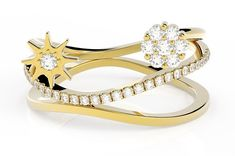 Bague or et diamant Alba de 0.22 carats or jaune prix Bagues Femme Diamants et Carats 590.00 € TTC Or Rose, Sandals, Shoes, Fashion, Round Diamonds, White Gold, Ring, Yellow, Accessories