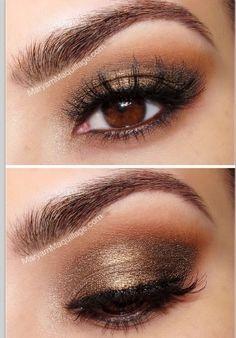 Aaah Omg it's amazing ♥ #makeup #brown #eyes