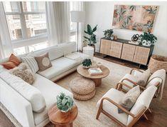 Boho Living Room, Home And Living, Living Room Decor, Cozy Living Rooms, Home And Deco, Living Room Inspiration, House Rooms, Apartment Living, Living Room Designs