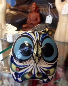 Cute wide-eyed Palopo from San Antonio Home Decor Kitchen, Fair Trade, San Antonio, Nerd, Owl, Gemstone Rings, Pottery, Cute, Jewelry