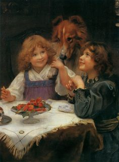 The teaparty Artwork by Arthur John Elsley Hand-painted and Art Prints on canvas for sale,you can custom the size and frame English Artists, British Artists, Victorian Women, Cool Artwork, Amazing Artwork, Dog Portraits, Vintage Pictures, Animals For Kids, Canvas Art Prints