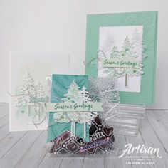 Crafty Little Peach: Stampin' Up Artisan Blog Hop - In the Pines