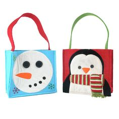 snowman products | Snowman & Penguin Mixed Pack Gift Bags - Set of 2 – DII Design ...