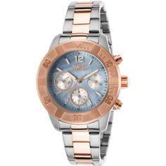 Invicta Women's Women's Angel Multi-Function Two-Tone Stainless Steel... ($129) ❤ liked on Polyvore featuring jewelry, watches, multi, invicta, bezel watches, two tone jewelry, stainless steel jewellery and stainless steel jewelry