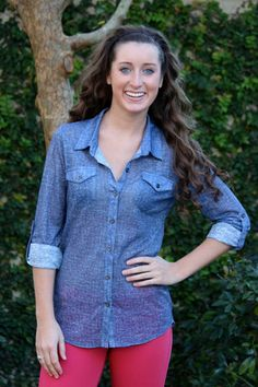 Chambray shirt is a must have!
