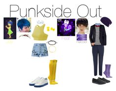 """""""Punkside Out: Joy and Fear"""" by emmasart ❤ liked on Polyvore featuring Alex and Ani, New Balance, Vans and Ozone"""