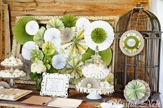 gorgeous wedding reception table decor, but could work for other parties