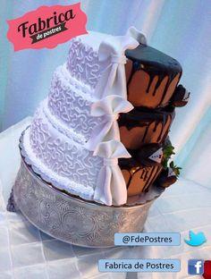Pasteles personalizados de Boda y para todo tipo de evento.   Facebook:  https://www.facebook.com/pages/Fabrica-de-Postres/169060363149569