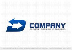 Pre-designed logo 6948: Double Arrow D Logo