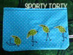 Applis - Sporty Torty - Designs & Sews Handmade in Kaki