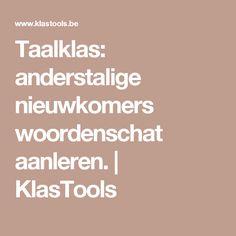 Taalklas: anderstalige nieuwkomers woordenschat aanleren. | KlasTools