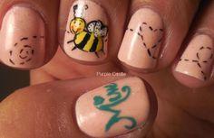 Bee Mine - Valentine's Day Nails