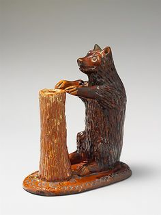 Bear figure and spill holder