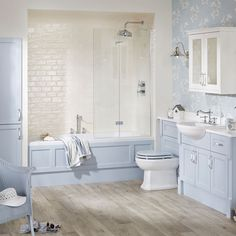 Coastal blue bathroom furniture from Utopia Bathrooms. Bathroom Mirror Cabinet, Mirror Cabinets, Bathroom Storage, Fitted Bathroom Furniture, Bathroom Trends, Bathroom Designs, Bathroom Ideas, Bathroom Makeovers, Modular Walls