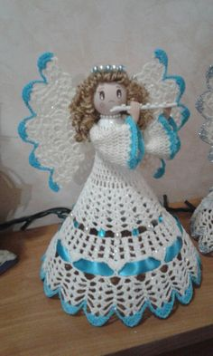 Best 9 Crochet white angel figurine religious gift Christmas ornament tree decor godmothers present Christening guardian lace angel – SkillOfKing. Crochet Angel Pattern, Crochet Angels, Vintage Crochet Patterns, Christmas Crochet Patterns, Crochet Bear, Christmas Embroidery, Crochet Gifts, Quilted Christmas Ornaments, Christmas Angels
