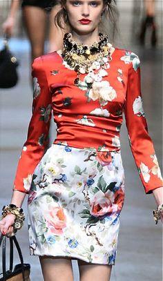 Fashion || Dolce & Gabbana floral prints