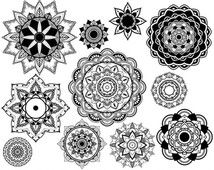 And we got loads more! Mandalas Painting, Mandalas Drawing, Lotus Flower Henna, Lotus Mandala, Circular Tattoo, Gif Disney, Oriental Tattoo, Clip Art, Marquesan Tattoos