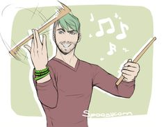 I LOVE THIS! In case you didn't know, Jack was a drummer in a band in high school :)