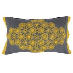 Floral Lace Cushion 12x20 Yellow now featured on Fab.