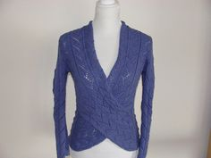 Handknit wrap style pullover