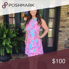 Lilly Pulitzer dress This fit and flare is extremely comfortable for any summer festivity you may need to attend! It's great for weddings, vacation, and any other type of summer event you're invited to! The style of the dress is super flattering and fits all shapes. It has only been worn twice and is in great condition! Lilly Pulitzer Dresses Midi