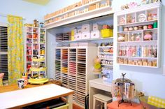 Hand to Paper: Dream craft room tour with loads of great organizational ideas & photos.