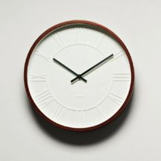 Wood Rim White Clock / Dot and Bo