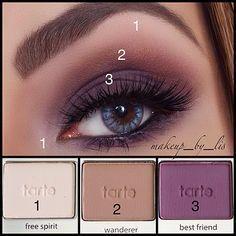 Makeup by Lis Puerto Rico Makeup Artist and Beauty Blog | Daytime Plum Smokey Eye Makeup Tarte Tartelette Palette Tutorial
