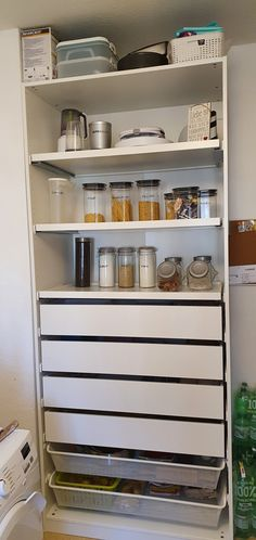 Ikea Pantry, Pantry Room, Kitchen Pantry, Kitchen Storage, Pantry Ideas, Kitchen Ideas, Ikea Pax, Ikea Cabinets, Pantry Design