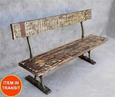Reclaimed Recycled old boat Timber garden outdoor bench seat industrial 140cm