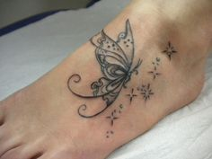 26 Butterfly Tattoos On Foot To