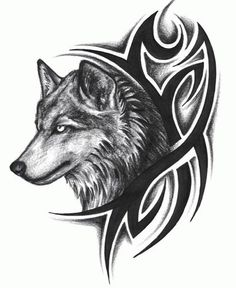 dab8ff4be3142 tattoo ideas tribal tattoos tattoo design tribal wolf tattoos tattoo Tribal Wolf  Tattoo