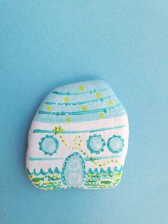Summer+House+magnet+handpainted+river+stone+by+Mammabook+on+Etsy,+€15.00