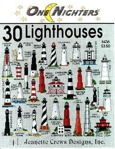 cross stitch patterns of lighthouses - Google Search