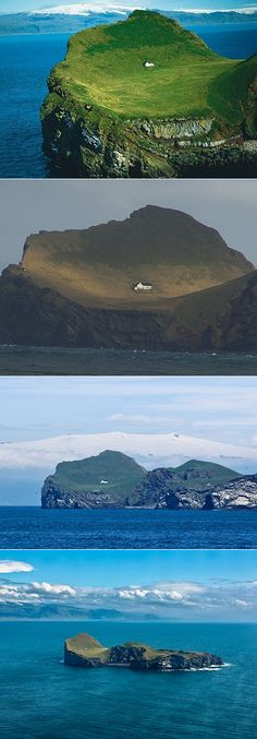 The ultimate getaway. haha A tiny house on the coast of Iceland