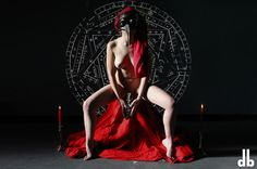 SCARLET WOMAN #scarlet #red #magick #sex #ritual #mask #666 #beast #seal #pineal #dorothybhawl #aleistercrowley #thelema #art #babalon