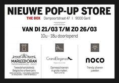 Nieuwe Pop-Up Store The Box te Gent  -- Gent -- 21/03-26/03
