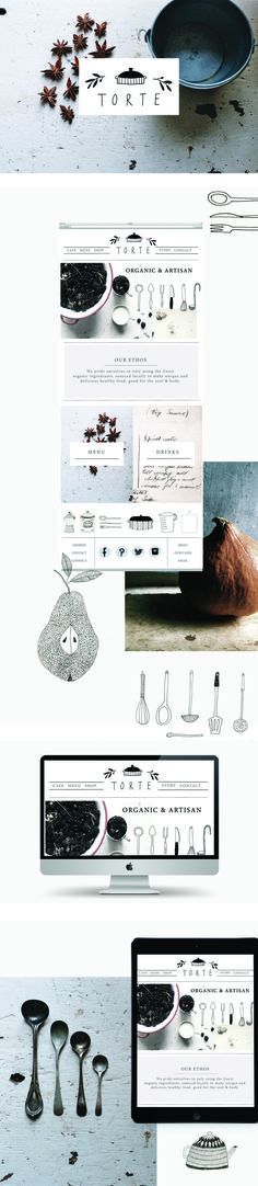 Torte branding and web design by Ryn Frank www.rynfrank.co.uk ?utm_content=bufferd3ec2&utm_medium=social&utm_source=pinterest.com&utm_campaign=buffer