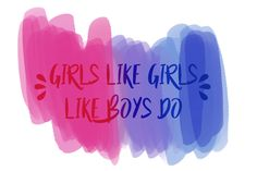 girls like girls like boys do. (nothing new)  #hayleykiyoko #bipride #bi #bisexual #art #lgbt #bisexualpride