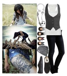 """""""Seperate me from my own two hands I've Killed so many times (Outfit of the day #16?)"""" by jade-loves-her-music ❤ liked on Polyvore featuring Urban Decay, WeSC, Bozzolo, Wet Seal, Vans and Neff"""