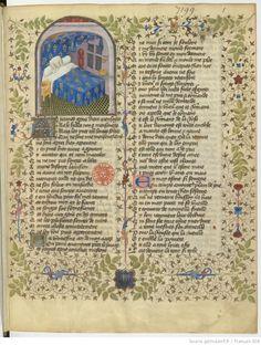Roman de la Rose (Guillaume de Morris et Jean de Meung), BNF, Français 804, fol. 1r.