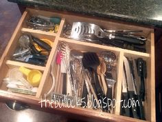 Diy drawer organizer kitchen drawers drawer organisers and drawers my diy kitchen drawer organizer do it yourself home projects from ana white solutioingenieria Image collections