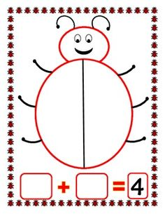 A ladybug math mat to use when practicing composing and decomposing numbers. Place the target number of 2 color counters in a small cup and spill ...