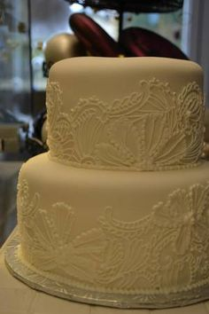 Lace cake by Frost Dessert Shoppe in Baden ON